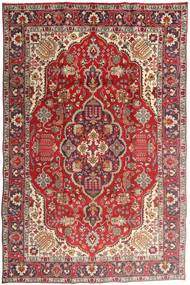 Tabriz Teppe 194X300 Ekte Orientalsk Håndknyttet Mørk Rød/Rust (Ull, Persia/Iran)