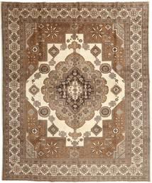 Tabriz Teppe 295X368 Ekte Orientalsk Håndknyttet Brun/Beige Stort (Ull, Persia/Iran)