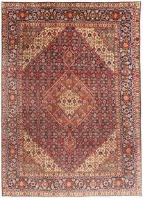 Tabriz Teppe 203X291 Ekte Orientalsk Håndknyttet Mørk Rød/Lysbrun (Ull, Persia/Iran)