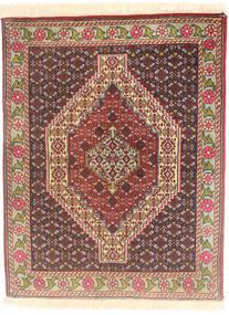 Senneh Teppe 77X98 Ekte Orientalsk Håndknyttet Lysbrun/Mørk Brun (Ull, Persia/Iran)