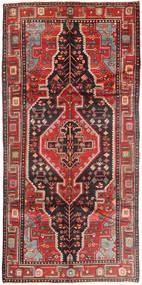 Nahavand Teppe 155X305 Ekte Orientalsk Håndknyttet Teppeløpere Mørk Rød/Mørk Brun (Ull, Persia/Iran)