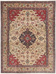 Tabriz Patina Teppe 225X332 Ekte Orientalsk Håndknyttet Lysbrun/Mørk Brun (Ull, Persia/Iran)