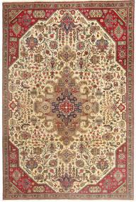 Tabriz Patina Teppe 190X280 Ekte Orientalsk Håndknyttet Lysbrun/Beige (Ull, Persia/Iran)