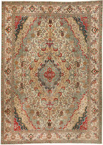 Tabriz Patina Teppe 300X422 Ekte Orientalsk Håndknyttet Brun/Lysbrun Stort (Ull, Persia/Iran)