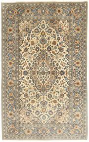 Keshan Teppe 195X312 Ekte Orientalsk Håndknyttet Mørk Beige/Lysbrun (Ull, Persia/Iran)