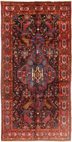 Nahavand Teppe 158X310 Ekte Orientalsk Håndknyttet Teppeløpere Mørk Rød/Mørk Brun (Ull, Persia/Iran)