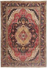 Tabriz Patina Teppe 210X297 Ekte Orientalsk Håndknyttet Mørk Rød/Mørk Brun/Brun (Ull, Persia/Iran)