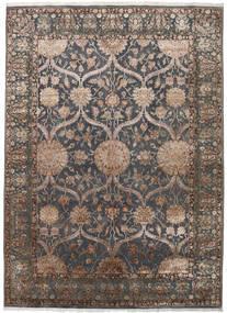 Keshan Indisk Ull/Viscos Teppe 248X342 Ekte Orientalsk Håndknyttet Mørk Grå/Lys Grå (Ull/Silke, India)