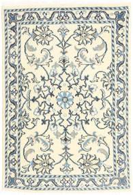 Nain Teppe 60X90 Ekte Orientalsk Håndknyttet Beige/Mørk Grå (Ull, Persia/Iran)