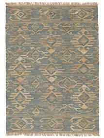 Kalahari Jute Teppe 200X300 Ekte Moderne Håndvevd Lys Grå/Turkis Blå ( India)