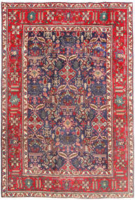 Tabriz Teppe 194X290 Ekte Orientalsk Håndknyttet Mørk Rød/Beige (Ull, Persia/Iran)