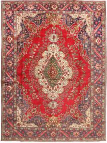 Tabriz Teppe 290X395 Ekte Orientalsk Håndknyttet Mørk Rød/Lysbrun Stort (Ull, Persia/Iran)