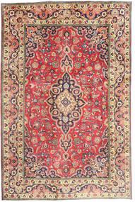 Tabriz Teppe 194X290 Ekte Orientalsk Håndknyttet Rust/Mørk Grå (Ull, Persia/Iran)