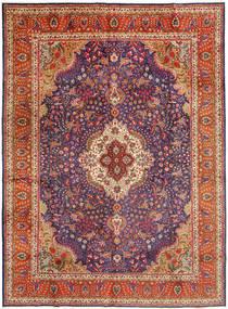 Tabriz Teppe 305X410 Ekte Orientalsk Håndknyttet Mørk Rød/Rust Stort (Ull, Persia/Iran)