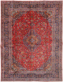 Mashad Teppe 300X400 Ekte Orientalsk Håndknyttet Mørk Rød/Lyselilla Stort (Ull, Persia/Iran)