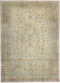 Keshan Patina Teppe 293X405 Ekte Orientalsk Håndknyttet Lys Grå/Mørk Beige/Olivengrønn Stort (Ull, Persia/Iran)