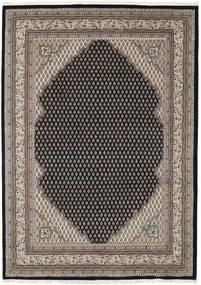 Mir Indisk Teppe 171X240 Ekte Orientalsk Håndknyttet Lys Grå/Svart (Ull, India)
