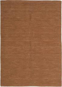 Kelim Loom - Brun Teppe 160X230 Ekte Moderne Håndvevd Brun (Ull, India)