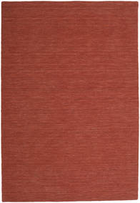 Kelim Loom - Rust Teppe 200X300 Ekte Moderne Håndvevd Mørk Rød (Ull, India)