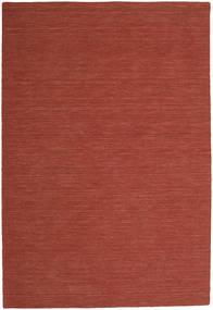 Kelim Loom - Rust Teppe 250X350 Ekte Moderne Håndvevd Mørk Rød Stort (Ull, India)