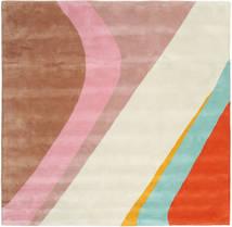 Dynamic Handtufted - Pink Teppe 250X250 Moderne Kvadratisk Beige/Lysbrun Stort (Ull, India)