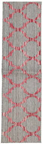 Jakart Kelim Teppe 35X140 Ekte Moderne Håndvevd Teppeløpere Lys Grå (Ull, India)