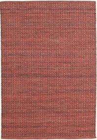 Alva - Dark_Rust/Svart Teppe 140X200 Ekte Moderne Håndvevd Mørk Rød/Rust (Ull, India)