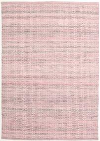 Alva - Pink/Vit Teppe 140X200 Ekte Moderne Håndvevd Lyserosa/Lyselilla (Ull, India)
