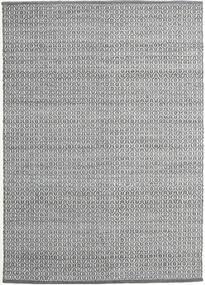 Alva - Mørk Grå/Vit Teppe 140X200 Ekte Moderne Håndvevd Lys Grå/Mørk Grå (Ull, India)