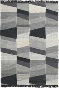Viola - Grå/Svart Teppe 160X230 Ekte Moderne Håndvevd Mørk Grå/Turkis Blå (Ull, India)