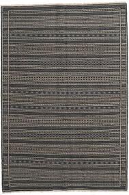 Kelim Persia Teppe 160X230 Ekte Orientalsk Håndvevd Mørk Grå/Svart/Lys Grå (Ull, Persia/Iran)