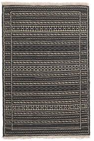 Kelim Teppe 80X123 Ekte Orientalsk Håndvevd Svart/Mørk Grå/Lys Grå (Ull, Persia/Iran)