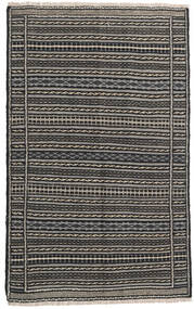 Kelim Persia Teppe 100X160 Ekte Orientalsk Håndvevd Svart/Mørk Grå/Lys Grå (Ull, Persia/Iran)