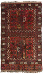 Afghan Khal Mohammadi Teppe 129X214 Ekte Orientalsk Håndknyttet Mørk Rød/Mørk Brun (Ull, Afghanistan)