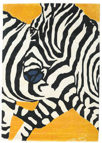 Zebra - 2018 Teppe 160X230 Moderne Beige/Svart (Ull, India)