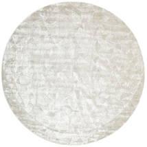 Crystal - Sølvvit Teppe Ø 250 Moderne Rundt Lys Grå/Mørk Beige/Beige Stort ( India)