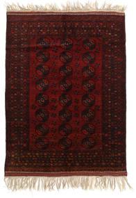 Afghan Khal Mohammadi Teppe 150X196 Ekte Orientalsk Håndknyttet Mørk Brun/Mørk Rød (Ull, Afghanistan)