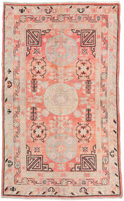 Samarkand Vintage Teppe 155X255 Ekte Orientalsk Håndknyttet Lyserosa/Beige (Ull, Kina)