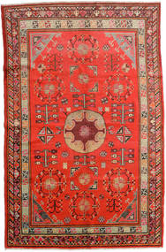 Samarkand Vintage Teppe 161X250 Ekte Orientalsk Håndknyttet Rust/Mørk Rød (Ull, Kina)