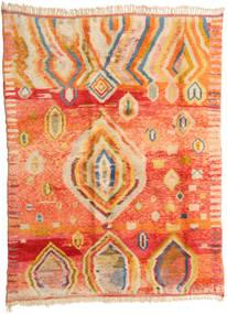 Berber Moroccan - Mid Atlas Teppe 221X295 Ekte Moderne Håndknyttet Orange/Mørk Beige (Ull, Marokko)