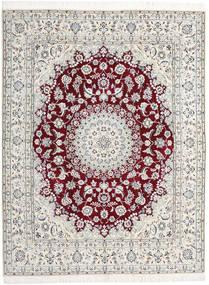 Nain 9La Teppe 198X258 Ekte Orientalsk Håndknyttet Lys Grå/Beige (Ull/Silke, Persia/Iran)