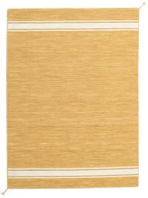 Ernst - Mustard/Off White Teppe 140X200 Ekte Moderne Håndvevd Lysbrun/Mørk Beige (Ull, India)