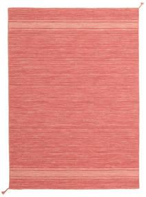 Ernst - Coral/Light_Coral Teppe 140X200 Ekte Moderne Håndvevd Lyserosa/Rød (Ull, India)