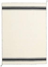 Ernst - Off White/Svart Teppe 140X200 Ekte Moderne Håndvevd Beige (Ull, India)