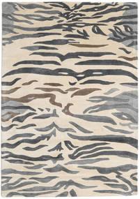Love Tiger - Grå Teppe 160X230 Moderne Beige/Mørk Grå/Lys Grå ( India)