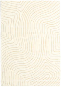Woodyland - Beige Teppe 160X230 Moderne Beige/Hvit/Creme (Ull, India)