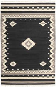 Tribal - Svart Teppe 200X300 Ekte Moderne Håndvevd Svart/Beige (Ull, India)