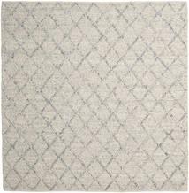 Rut - Sølv/Grå Melange Teppe 250X250 Ekte Moderne Håndvevd Kvadratisk Lys Grå/Mørk Beige Stort (Ull, India)