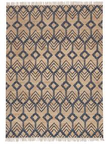 Trinni Jute Teppe 160X230 Ekte Moderne Håndvevd Lys Grå/Beige ( India)