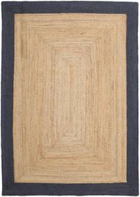 Frida Frame - Natural/Navy Teppe 160X230 Ekte Moderne Håndvevd Mørk Beige/Svart/Beige ( India)